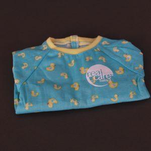 Schlafanzug türkis/gelb